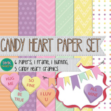 Digital Paper and Frame Set- Valentine's Day Candy Hearts