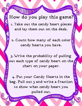 Candy Heart Probability Game