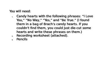 Candy Heart Sentences