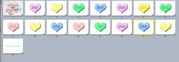 Candy Heart Sight Words Movie/Flash Cards for Valentine's Day