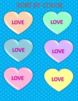 Candy Heart Sort & Graph