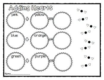 Candy Heart Sort, Graph and Add