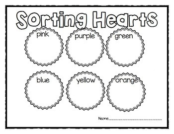 Candy Heart Sort and Graph Activities