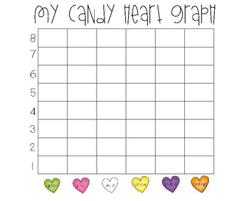 Candy Heart Sort and Graph (Freebie)