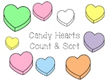 Candy Heart Sorting and Counting Mats