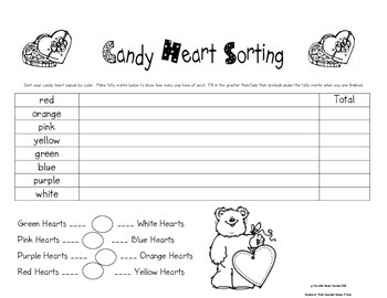 Candy Heart Sorting for Valentines Day