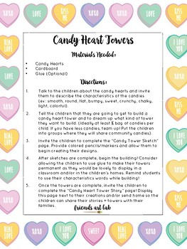 Candy Heart Towers - Connecting STEAM & Valentine's Day