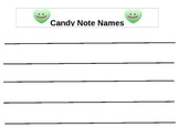 Candy Heart Treble Note Names