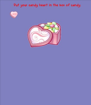 Candy Heart Valentine Themed Smart Board Attendance