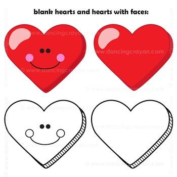 Candy Hearts Clip Art | Conversation Hearts