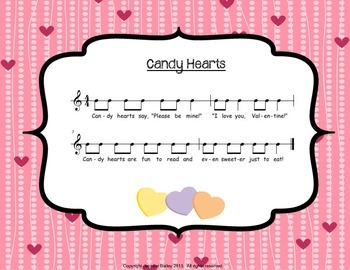 Candy Hearts - A Musical Valentine's Day Activity