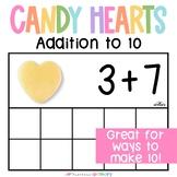 Candy Hearts Addition Frames   Valentine's Day Mini Eraser Math Activity