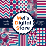 Candy Hearts: Digital Party Papers {Mel's Digital Store}