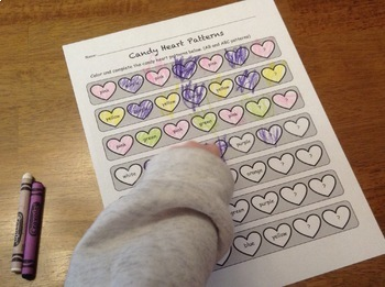 Candy Conversation Hearts Math: Graph, Sort, Pattern & more