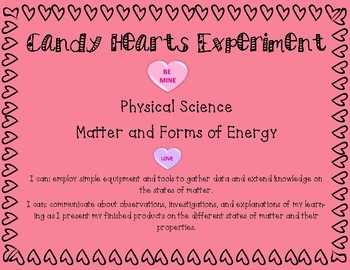 Candy Hearts Science Experiment- Valentine's Day
