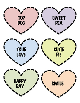 Candy Hearts Synonyms and Antonyms- Valentines Center