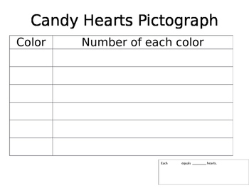 Candy Hearts Valentine Pictograph