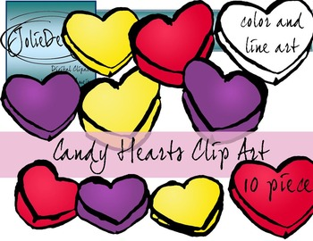 Candy Hearts Valentines Day Clip Art - FREE