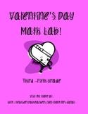 Candy Hearts Valentine's Day Math Lab - Grades 3 - 5