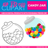 Candy Jar Clipart Single | Digital Use Ok!