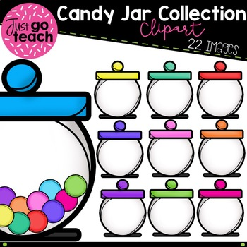 Candy Jar Collection Clipart