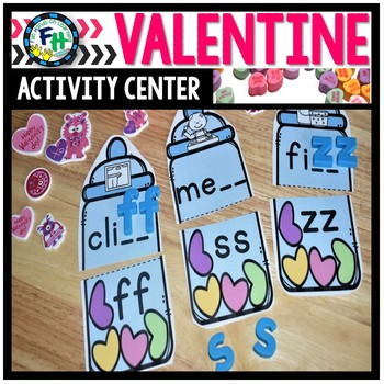 Valentine Activity Center {Double Consonant Puzzles}