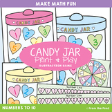Subtraction Game / Math Center {Candy Jar}