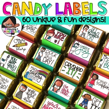 Candy Labels   Includes 30 Designs