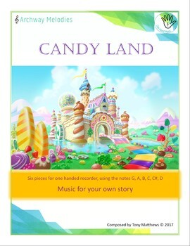 Candy Land. Six Pieces for Piano and a Recorder on 1 hand.