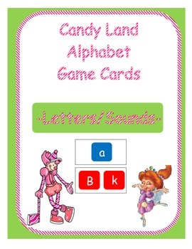 Candy Land Alphabet Game Cards