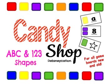 Candy Shop Alphabet, Numbers, & Shapes Game