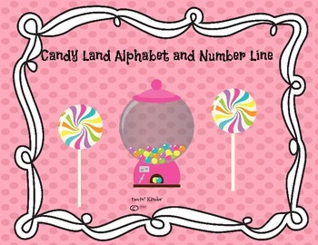 Candy Land Alphabet and Number Line