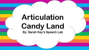 Candy Land Articulation Cards