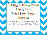 Candy Land Board Game Template