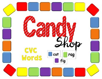Candy Shop CVC Word Game