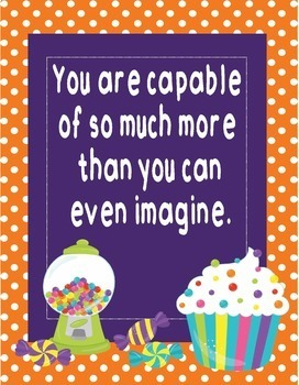 """Candy Land Candyland Growth Mindset Posters-8.5""""x11"""", 18""""x24""""-Ready for Printing"""