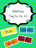 Candy Land Cards - Addition to 20