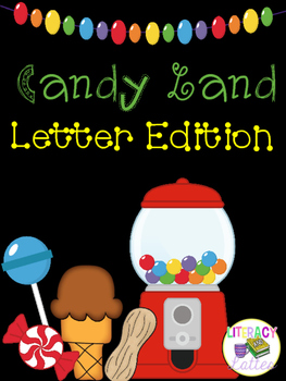 Candy Land Cards: Alphabet Edition