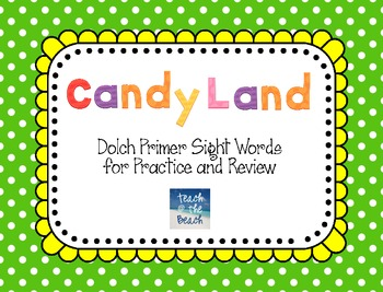 Candy Land Cards - Dolch Primer