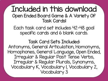 Candy City Companion for Language & Articulation