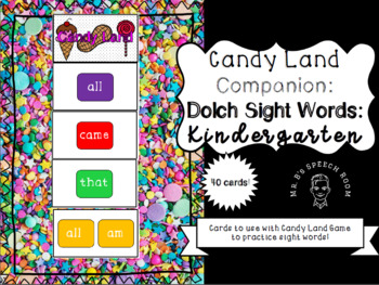 Candy Land Companion Cards: Dolch Sight Words Kindergarten List