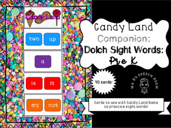 Candy Land Companion Cards: Dolch Sight Words Pre K List