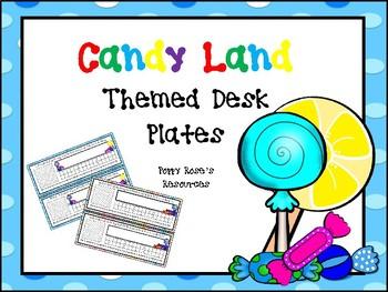 Candy Land  Desk Plates