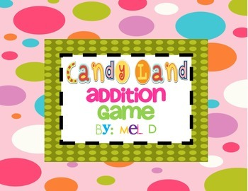 Candy Land Dibels Math Bundle