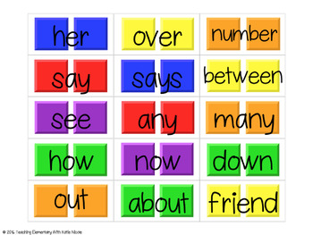 Candy Land: First Grade Trick Words