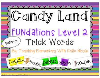 Candy Land: Level 2 Trick Words