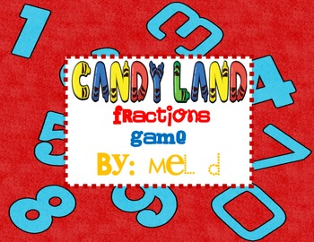 Candy Land Fractions Game