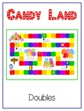 Candy Land - Fun Math Folder Game - Adding Doubles - Commo
