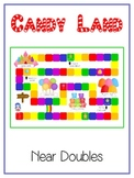 Candy Land - Fun Math Folder Game - Adding Near Doubles - Common Core Aligned
