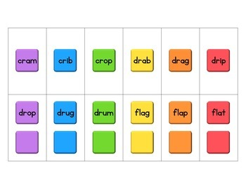 Candy Land Game - Beginning and Ending Blends - CCVC and CVCC Words